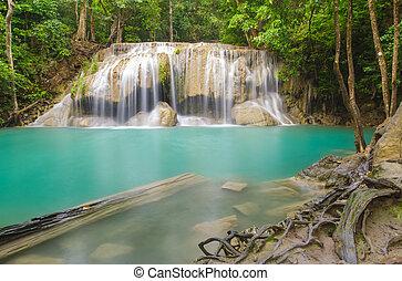 Erawan waterfall level 2.