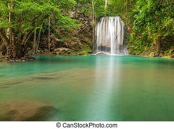 Erawan waterfall level 3.