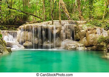 Erawan waterfall level 5.
