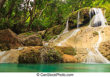 Erawan waterfall level 6.