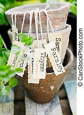 erba, etichetta