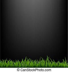 erba, sfondo nero