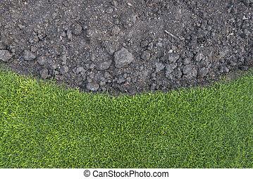 erba verde, con, suolo, come, natura, fondo