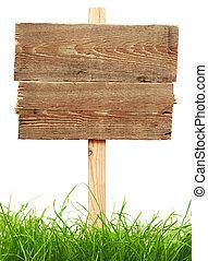 erba, verde, segno strada
