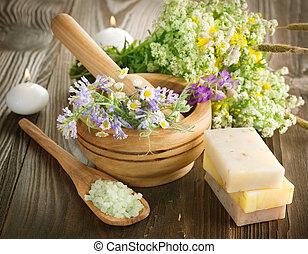 erbaceo, terme, products., naturale, ?osmetics