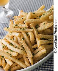 erbe cipollina aglio, frigge, francese