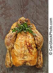 erbe, pollo, arrosto