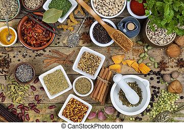 erbe, spezie, cottura, -, ingredienti