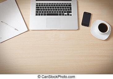 erdő, felszín, íróasztal