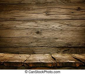 erdő, háttér, -, asztal, noha, wooden közfal