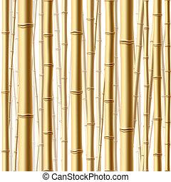 erdő, seamless, bambusz
