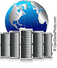 erdball, vernetzung, server