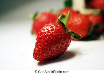erdbeer, früchte