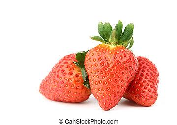 erdbeer, haufen