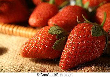 erdbeer, nahaufnahme