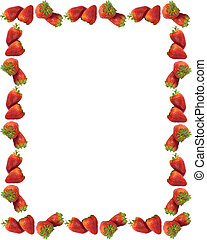erdbeer, umrandungen