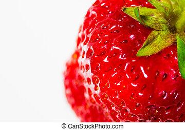 erdbeer, weißer hintergrund