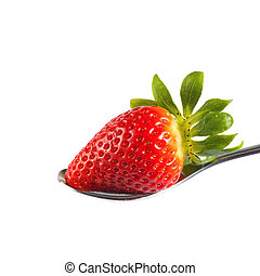 erdbeer, weißes