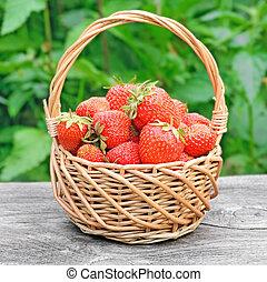 erdbeeren, korb