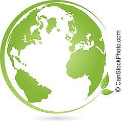 Erde, Globus, Weltkugel, Logo