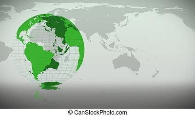 erde, itself, grün, drehung