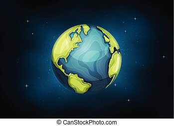 erde, planet, hintergrund