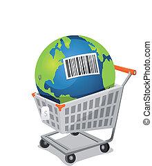 erde, verkauf, mit, barcode
