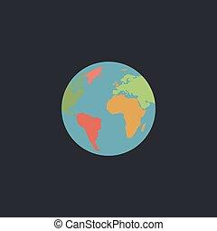erdeglobus, edv, symbol