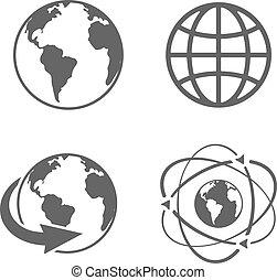 erdeglobus, heiligenbilder
