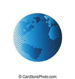 erdeglobus, vektor, modern