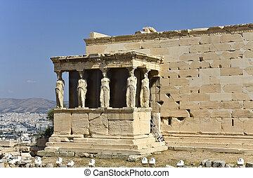 erechteion, chrám, atény