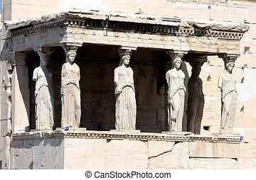 erechteum, atenas, grecia
