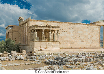 Erechtheion in Acropolis, Athens - Greece