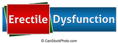 Erectile Dysfunction Red Blue Butto