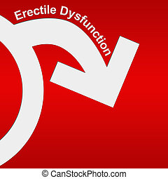 Erectile Dysfunction Red White