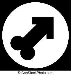 Erection Icon - Erection glyph icon. Style is flat symbol,...