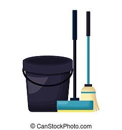eredet, eszközök, takarítás