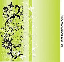 eredet, háttér, zöld