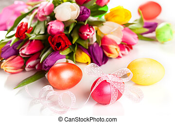 eredet, tulipánok, és, easter ikra