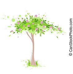 eredet, zöld fa