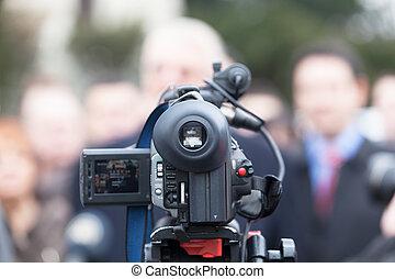 ereignis, videokamera, hülle