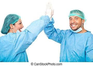 erfolgreich, chirurgie