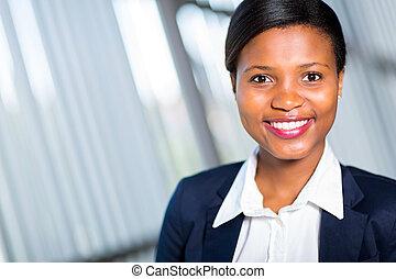 erfolgreich, junger, afrikanisch, geschäftsfrau