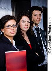 erfolgreich, junger, businesspeople
