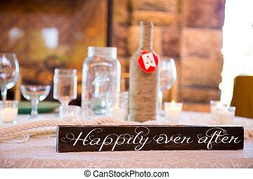 erfreulicherweise, je, nach, wedding, zeichen