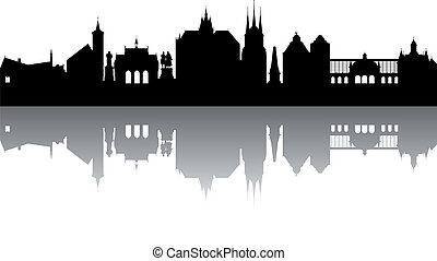 Erfurt Skyline abstract
