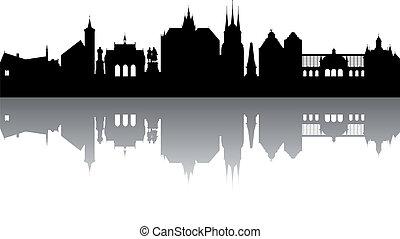 Erfurt Skyline abstract