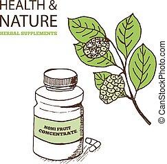 ergänzungen, natur, gesundheit, sammlung