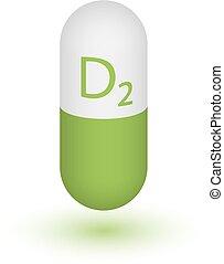 ergocalciferol., ビタミン, d2.