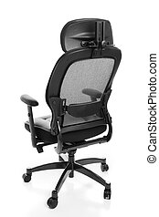 Ergonomic Office Chair Rear - Rear view of an ergonomic...